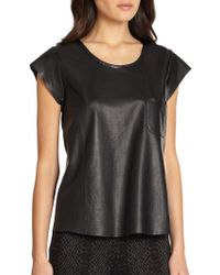 Joie Leather Rancher Tee - Lyst