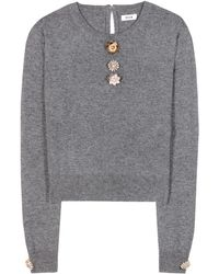 Issa Freya Wool and Cashmere Sweater - Lyst