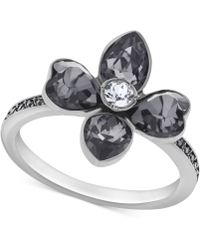 Swarovski Bunch Ruthenium-plated Flower Crystal Ring - Lyst