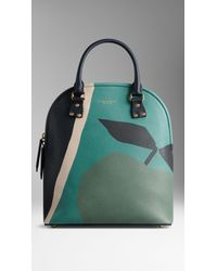 Burberry The Medium Bloomsbury In The Orchard Print Leather - Lyst