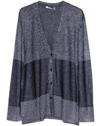 T By Alexander Wang Twisted Knit Cardigan - Lyst