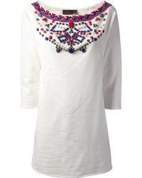 Jo No Fui - Embellished Shift Dress - Lyst