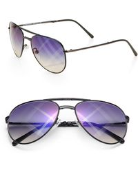 Burberry 58mm Metal Aviator Sunglasses - Lyst