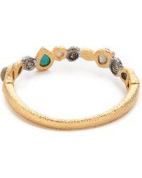 Alexis Bittar Stacking Hinge Stone Bracelet Turquoise Multi - Lyst