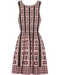 Issa Patterned Stretchknit Dress - Lyst