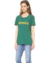 Textile Elizabeth And James Australia Bowery Tee Greenmustard - Lyst