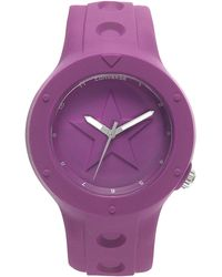 Converse - Unisex Rookie Purple Silicone Strap 43Mm Vr001-460 - Lyst