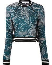Veronica Beard Leaf Graphic Sweater - Lyst