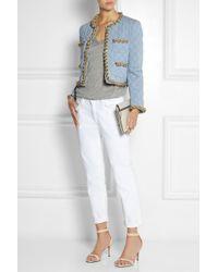 Moschino Chaintrimmed Quilted Denim Jacket - Lyst