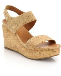 Gentle Souls Juniper Cork Wedge Sandals - Lyst
