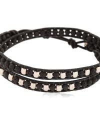 Colana - Lava Stones & Leather Wrap Bracelet - Lyst