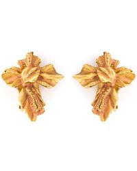 Christian Lacroix - Rustic Cross Clip-On Earrings - Lyst