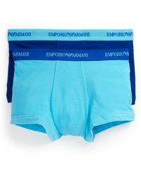 Emporio Armani Stretch Cotton Boxer Briefs, Pack Of 2 - Lyst