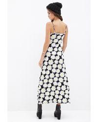 Forever 21 Daisy Print Maxi Dress - Lyst