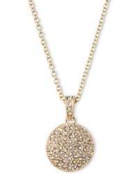 Judith Jack - Double Sided Marcasite Pendant Necklace - Lyst
