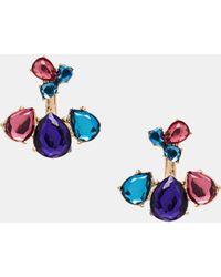 Asos Teardrop Jewel Swing Earrings - Lyst