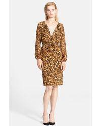Altuzarra Tortoise Print Silk Dress - Lyst