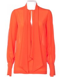 Givenchy Silk Crepe De Chine Shirt orange - Lyst