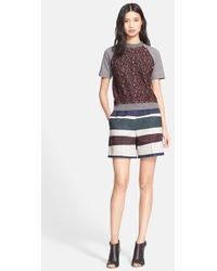 Carven - Lace Front Sweatshirt - Lyst