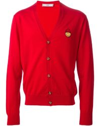 AMI Smiley Face Patch Cardigan - Lyst