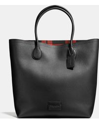 COACH   Unlined Mercer Tote In Pebble Leather   Lyst