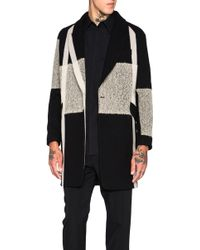 Song For The Mute - Beige Needle Punch Raglan Coat - Lyst