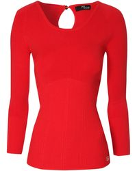 Jane Norman Scoop Neck Jumper - Lyst