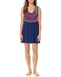 Mara Hoffman Embroidered Mini Dress - Lyst