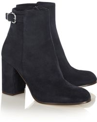 J.Crew | Barrett Buckled Suede Ankle Boots | Lyst