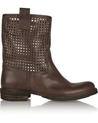 Fiorentini + Baker Emil Cutout Leather Boots - Lyst
