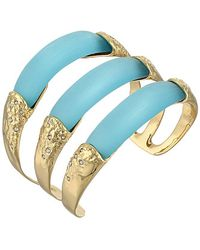 Alexis Bittar Crystal Embellished Stacked Cuff Bracelet - Lyst