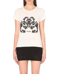 Maje Tamil Printed Jersey T-Shirt - For Women floral - Lyst