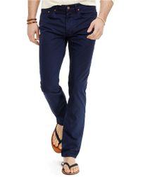 Polo Ralph Lauren Varick Slim-Straight Five-Pocket Poplin Pants - Lyst