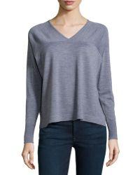 J Brand Merino Long-Sleeve Sweater - Lyst