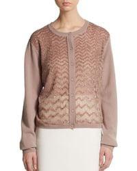 Valentino Embellished Dropped-Shoulder Cardigan - Lyst
