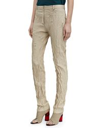 Acne Studios Beige Erle Froiss - Lyst