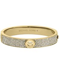 Michael Kors Fulton Pavé-Embellished Gold-tone Bangle - Lyst