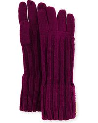 Ivanka Trump - Ribbed Zipper Gloves - Lyst