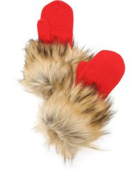 Kate Spade - Woodland Critters Mittens - Fairytale Red - Lyst