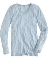 J.Crew Speckled Cotton Long-Sleeve Tee - Lyst