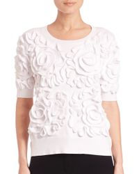 Sonia by Sonia Rykiel | Floral Frill Sweater | Lyst