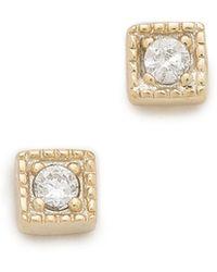 Shashi Rhyan Earrings - Clear/Gold - Lyst