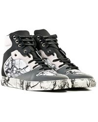 Balenciaga Hi- Top Sneakers In Marble Effect Leather - Lyst