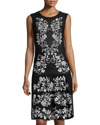 Cynthia Steffe Floral-Print Drop-Waist Dress - Lyst