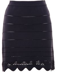 Chloé Scalloped Jersey Skirt - Lyst