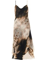 Haute Hippie Xray Print Slip Dress - Lyst