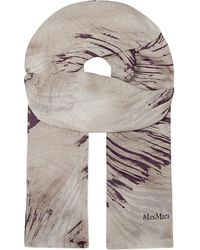 Max Mara Printed Silk Scarf - For Women - Lyst