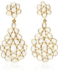 Kirat Young - Sliced Diamond Earrings - Lyst