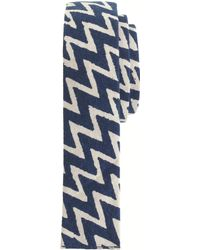 The Hill-side - Cotton Tie In Zigzag - Lyst