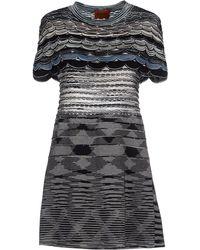 Missoni Short Dress gray - Lyst